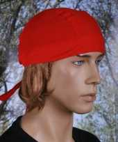 Bandana rood gekleurd uni 1 trend