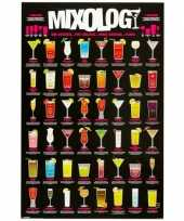 Bar poster met cocktails trend