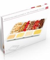 Barbecue bord wit van porselein 34 cm trend