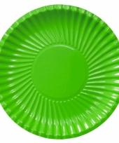 Barbecue bordjes groen 29 cm trend