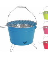 Barbecue emmer blauw 28 cm trend