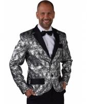 Barok colbert zilver voor heren trend