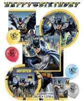Batman themafeest kinderfeestje decoratie pakket 8 personen trend