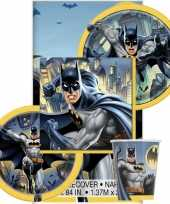 Batman themafeest tafeldecoratie pakket 8 personen trend