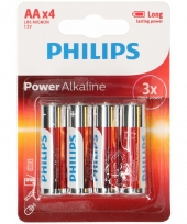 Batterijen lr6 aa philips 4 stuks trend