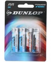 Batterijen r6 aa dunlop 4 stuks trend