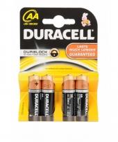 Batterijen r6 aa duracell 4 stuks trend