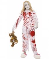 Bebloede zombie outift voor meisjes trend