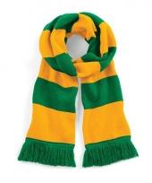 Beechfield retro sjaal groen geel trend
