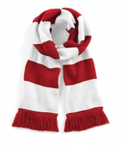 Beechfield retro sjaal rood wit trend
