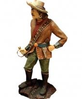 Beeld piraat met sabel kapitein 180 cm trend