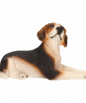 Beeldje beagle hond 13 cm trend