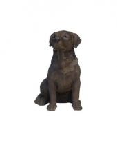 Beeldje bruin labrador hondje 21 cm trend