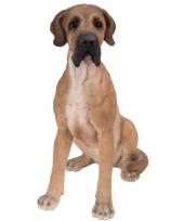 Beeldje bruine duitse hond 36 cm trend