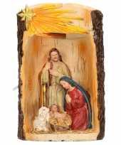 Beeldje heilige familie met verlichting 19 cm trend