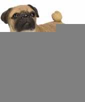 Beeldje mopshond beige 13 cm trend
