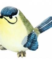 Beeldje pimpelmees vogel 15 cm trend