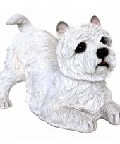 Beeldje west highland terrier wit 36 cm trend