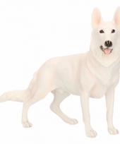 Beeldje witte herdershond 19 cm trend