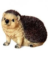 Beeldjes bruin egel diertjes 16 cm trend