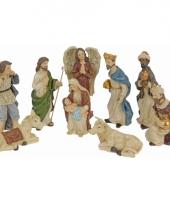 Beeldjes van kerst figuren 9 stuks trend