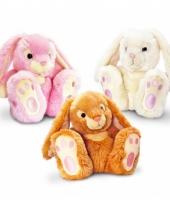 Beige konijnen knuffeldieren 25 cm trend