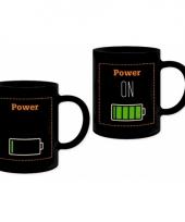 Beker met batterij print trend