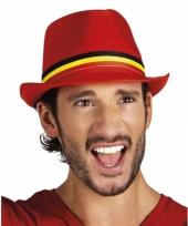 Belgisch supporters hoedje rood trend