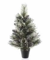 Besneeuwde kunst kerstboom in pot 60 cm trend
