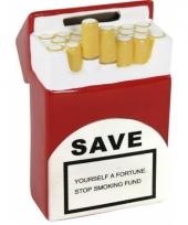 Bespaar geld door niet te roken spaarpot trend