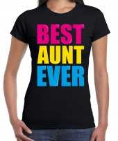 Best aunt ever beste tante ooit fun t-shirt zwart dames trend