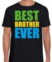 Best brother ever beste broer ooit fun t-shirt zwart heren trend