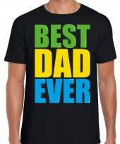 Best dad ever beste vader ooit fun t-shirt zwart heren trend