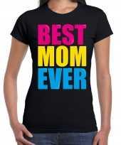 Best mom ever beste moeder ooit fun t-shirt zwart dames trend