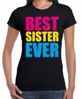 Best sister ever beste zus ooit fun t-shirt zwart dames trend