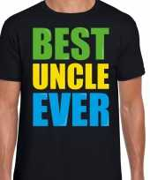 Best uncle ever beste oom ooit fun t-shirt zwart heren trend