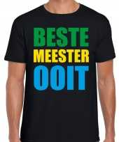 Beste meester ooit cadeau t-shirt zwart heren trend