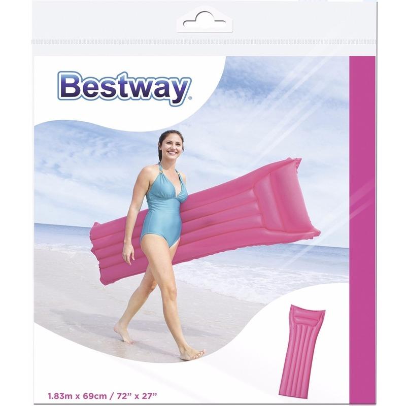 Bestway basic luchtbed roze 183 cm trend
