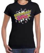 Beterschap oma cadeau shirt zwart voor dames trend