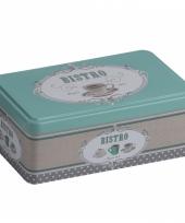 Bewaarblik rvs bistro mint groen 18 cm trend