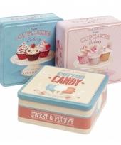 Bewaarblikje roze cupcakes trend