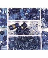 Bewaardoosje met donkerblauwe glaskralen trend