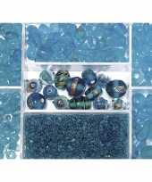 Bewaardoosje met turquoise glaskralen trend