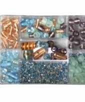 Bewaardoosje met turquoise parel glaskralen trend