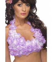 Bh met hawaii bloemen paars trend