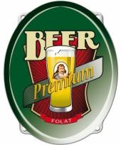 Bier feestartikelen bord 42 cm trend