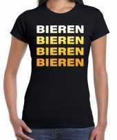 Bieren bieren bieren bieren t-shirt zwart voor dames trend