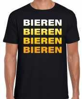 Bieren bieren bieren bieren t-shirt zwart voor heren trend