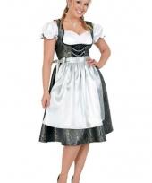 Bierfeest jurk zwart wit met schort trend
