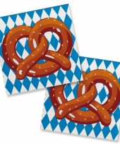 Bierfeest pretzel servetten 20 stuks trend